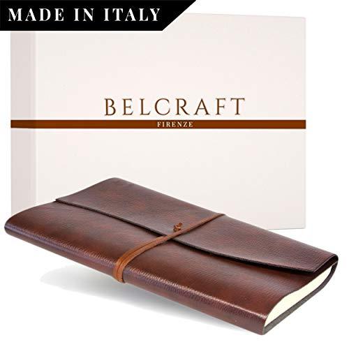 Tivoli A4 Diario/Taccuino in Pelle riciclata, Realizzato a mano da Artigiani Toscani, Include Scatola Regalo, A4 (21x30 cm) Marrone