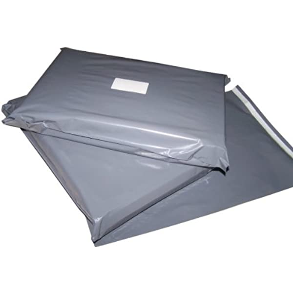 100 x STRONG LARGE GREY POSTAL MAILING BAGS 10x14 12x16 9x12 All Sizes COLOURED