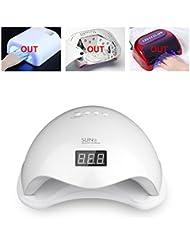 Vinteky 48W LED Séchoir à Ongles Séchoir de Gel UV Lampe Sèche-ongles à LED pour gel UV, gel LED pour un usage professionnel et domestique (Blanc)
