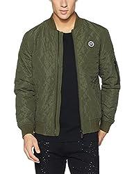 US Polo Assn. Mens Synthetic Jacket (8907378416315_USJK1513_XXX-Large_Olive)