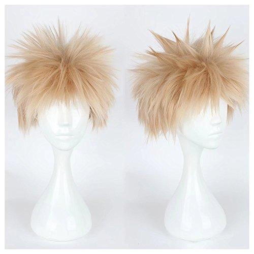 y Spike Licht Blonde Cosplay Kostüm Perücken Comic Cons Haar für Charakter Spielen (Spiel Charaktere Kostüme)