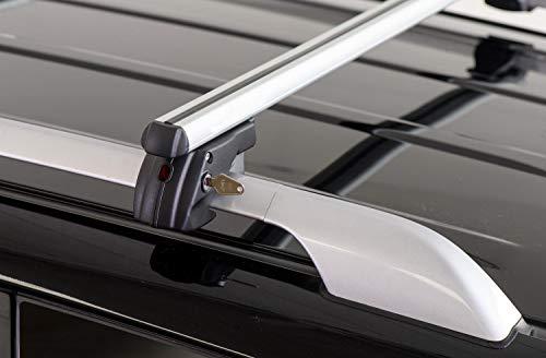 Barre PORTATUTTO Portapacchi Sherman XL per Lancia MUSA dal 2007 al 2012 con Railing (CORRIMANO Tradizionali Aperti)