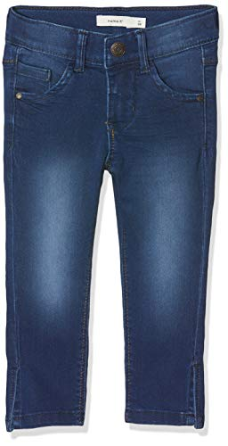 Name IT NOS Mädchen Jeans NKFPOLLY DNMTASANNE 2195 CAPRI Blau (Medium Blue Denim), (Herstellergröße: 128) Blue Denim Capri-jeans
