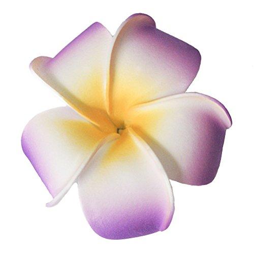 Pixnor 3,5 pollici Life-Like schiuma viola fiore capelli Barrette 3.5