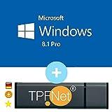 Microsoft® Windows 8.1 Pro 32 bit & 64 bit - Original Lizenzschlüssel mit bootfähigen USB Stick von - TPFNet®