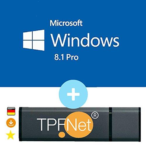 MS Windows 8.1 Pro 32 bit & 64 bit - Original Lizenzschlüssel mit bootfähigen USB Stick von - TPFNet®