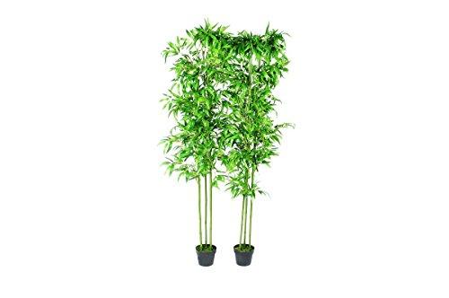 VidaXL Set 2 Bambú Artificial Hogar Decoración Plantas