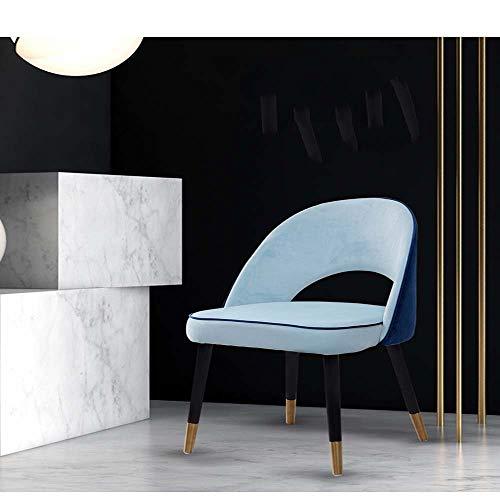 LY7 Mitte des Jahrhunderts Modern Öffnen Metall Solide Holz Barhocker Küche Essen Zimmer Zähler mit Weich Gepolstert Rückenlehne, 50 '' * 50 '' * 83 '' (L x B x H), Blau -