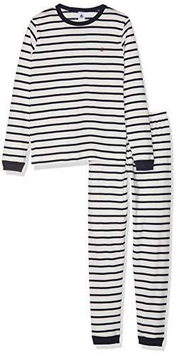 Petit Bateau Jungen Pyjama_4697501 Zweiteiliger Schlafanzug, Mehrfarbig (Marshmallow/Smoking 01), 92 (Herstellergröße: 2ans/86cm)