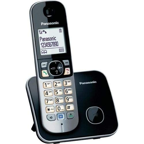 Panasonic KX-TG6811-Telefon (DECT, Schreibtisch, Silber, Polyphonisch, weiß, Nickel-Metal Hydride (NiMH)) -