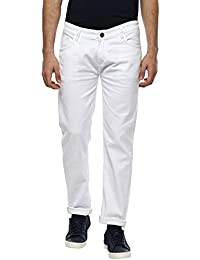 Urbano Fashion Men's White Slim Fit Stretch Jeans