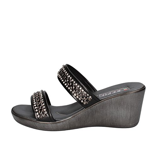 PHIL GATIER by REPO sandali donna 35 EU nero pelle strass AF988
