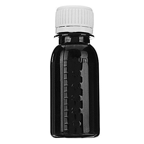 Leder Farbstoff Öl Verdünnungsmittel Tools Kit Farbstoff Flüssige Pigment Mix Farben Diy-Handwerk - Schwarz ()
