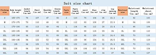 Judi Dench@ Costume Homme Hommes Parti Costume 3 pi¨¨ces veste + pantalon + gilet 1015 Rouge