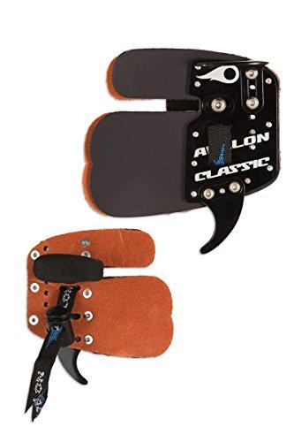 Avalon Bogenschießen Classic Leder Prime Finger Tab (rechte Hand) Für Recurve Bow (Groß) -