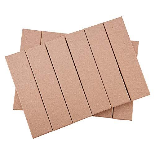 Benecreat 20 pack scatole superior elegante confezione di cartone per gioielliere per collana con bracciale 17 x 4 x 2.5cm marròn