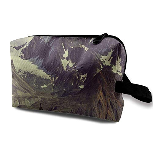 Travel Hanging Cosmetic Bags Snow Moutain Multi-functional Toiletry Makeup Organizer - Lavendel Vintage Handtasche