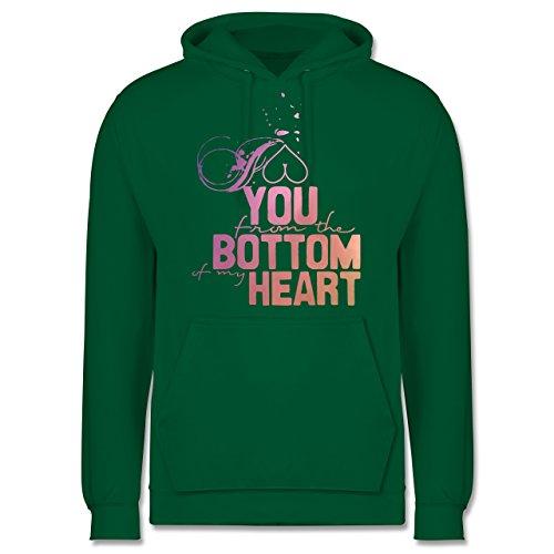 Statement Shirts - I love you from the bottom of my heart - Männer Premium Kapuzenpullover / Hoodie Grün