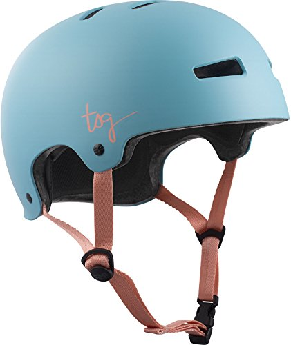 TSG Damen Evolution Wmn Solid Color Helm, Satin Porcelain Blue, S/M