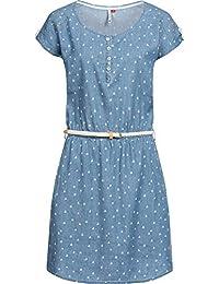 26565ca0a00 Ragwear Damen Kleid Dress Jeanskleid Sommerkleid Jerseykleid Freizeitkleid  Geena 2 Farben XS-XL