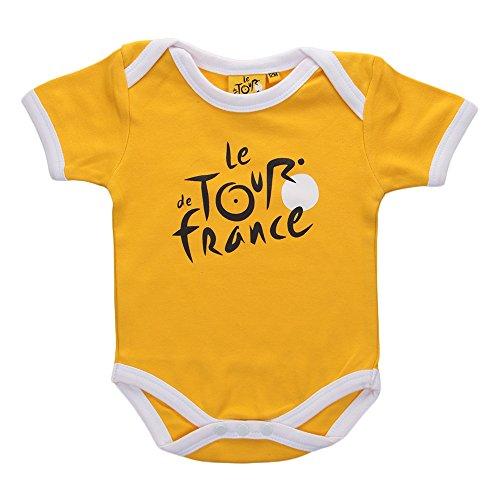 Tour de France tdf-sb-3068J 03M Body Baby Jungen 0-24M, gelb, fr: 3m (Größe Hersteller: 3m)