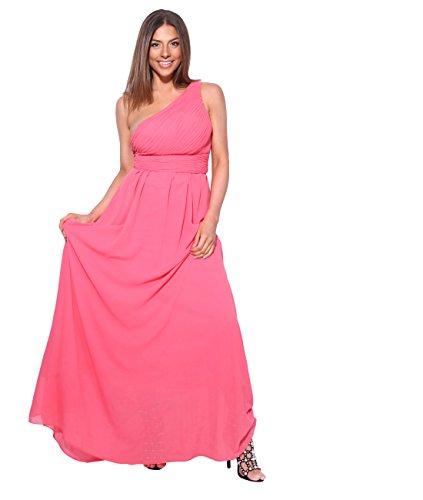 Krisp®, vestito lungo da damigella d'onore, abito da ballo, per feste e serate Corallo [4814] XS