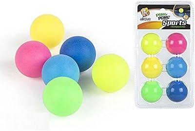 Pelotas De Ping Pong Colores 6 Unidades