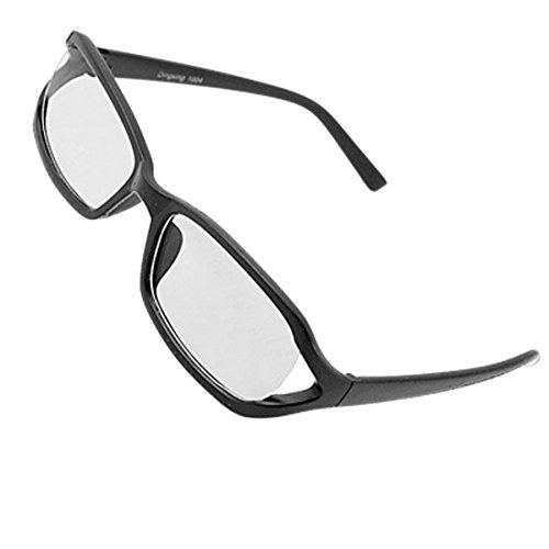 Schwarz gummierte Kunststoff Frame Unisex Clear Lens Gläser
