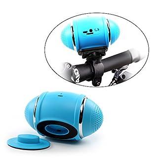 Amtop aufladbarer Fahrrad drahtlose Bluetooth Lautsprecher, Radfahren Lautsprecher-MP3-Player mit Mikro-SD-Card Slot, Aux-Eingänge und FM Radio, zusammen mit Halterung in Auto-Träger-Schlag und Fahrradhalterungen Halterung Halter (blau)
