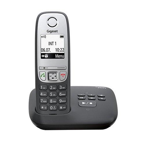 Gigaset A415A Schnurloses Telefon mit Anrufbeantworter (einfaches DECT Telefon mit Freisprechfunktion, Grafik Display und leichter Bedienung) schwarz (Schnurloses Telefon)
