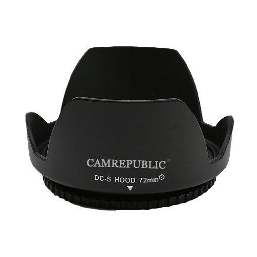 Camrepublic® 72mm petalo del fiore paraluce per Canon EF-S 15–85mm f/3.5–5.6IS USM, Canon EF-S 18–200mm f/3.5–5.6IS, Canon EF 50mm f/1.2L USM, Canon EF 85mm f/1.2L II USM, Canon EF 180mm f/3.5l macro USM, Canon EF 200mm f2.8l II USM, Canon EF 135mm f2.0l USM