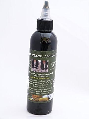 Thérapeutique Puissant Huile De Ricin Noire Jamaïcaine 236ml Perte de cheveux Prévention Grand Bouteille formulé rapide Croissance De Cheveux