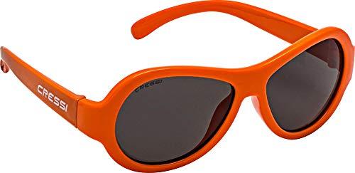 Cressi Unisex- Babys Scooby Sunglasses Polarisiert Kinder Sonnenbrille, Orange/Spiegel Linse, 3-5 Jahre