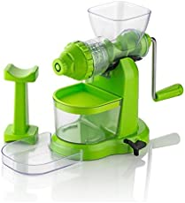 stylelime Quality Products Master Fruit And Vegetable Juicer   Manual Juicer With Steel Handle   Plastic Hand Juicer   Fruit & Vegetable Juicer Hand Machine   Hand Juicer Press Without Electricity With Strong Vacuum   Power Free Hand Juicer For Home & Kitchen (Color May Vary)