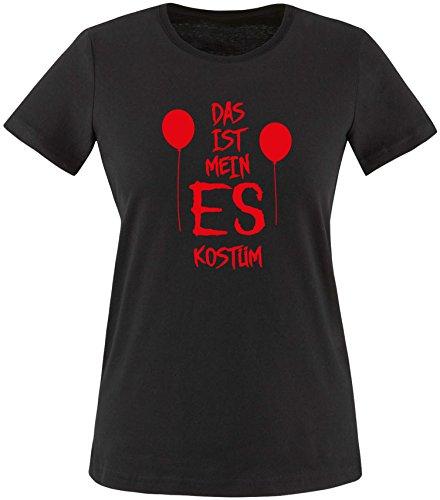 Kostüm Pennywise Stephen King - EZYshirt® Das ist mein ES Kostüm Damen Rundhals T-Shirt