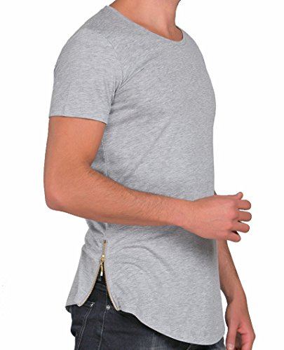 Red Bridge Herren Golden Silver Boy Oversized Long T-Shirt Grau
