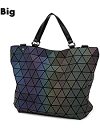 fb325bfa3 dkeqo Bolsa de geometría Lentejuelas Espejo Plaid Bolsas de Hombro  Plegables Bolso Luminoso Bolso Tote de
