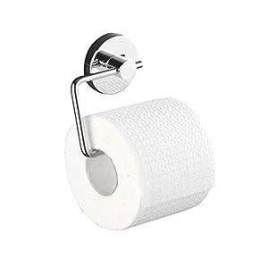 WENKO 20899100 Vacuum-Loc Toilettenpapierhalter Milazzo, Befestigung ohne bohren, Stahl, 13.5 x 17.5 x 16 cm, Chrom
