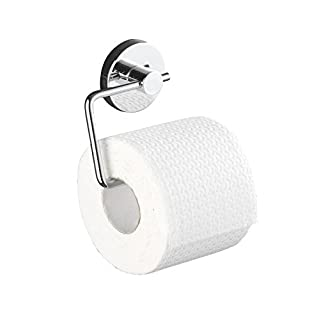 Wenko 20899100 Vacuum-Loc Toilettenpapierhalter Milazzo - Befestigung ohne bohren, Stahl, 13,5 x 17,5 x 16 cm, chrom