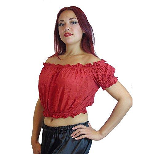 Kostüm Plus Tanz Größe - Plus GRÖSSE Bauchtanz Tribal Choli Top Kostüm UK GRÖSSE 16/18-22, XL XXL XXXL (ROT)
