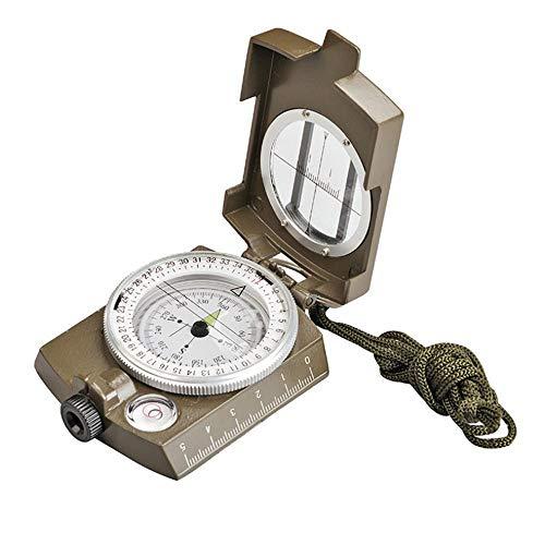 LVHC Professioneller Multifunktions-Outdoor-kompass, Leuchtender Wasserdichter Und Stoßfester Präzisionskompass, Geologischer Kompass Mit Rucksack Armeegrün - Leuchtstoff-shop-leuchten