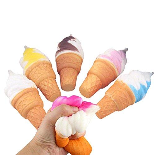 Squishy Juguete, Kawaii Squishy Helado Jumbo Squeeze Slow Rising Squeeze Toy Juguetes para Niños Adultos Niñas Juguete de Alivio de Estrés Juguete de Descompresión Colección LMMVP