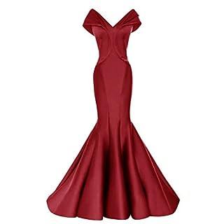 Promworld Women's Formal Dress Satin Mermaid Evening Dresses Long Burgundy US8