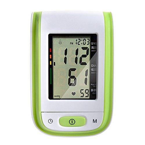 Tochange Automatischer Intelligenter oberer Arm-Blutdruck-Monitor LCD-Digital-Sphygmomanometer mit Sprachfunktion ältere Eltern-Gesundheits-Geschenke (Farbe : Grün)