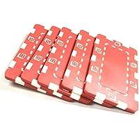 Placas de Poker Rojo ABS