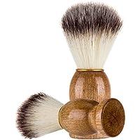 Les Hommes Brosse de Barbe, Gaddrt le Meilleur Blaireau de Rasage de Cheveux en Bois Manche Rasoir Outil de Coiffeur