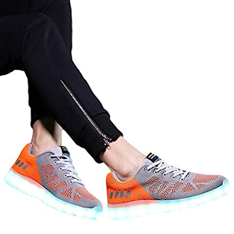 PDFGO Chaussures Pour Hommes Lumières LED Chaussures Légères Couples Usb