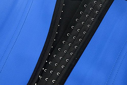 Frauen Latex Training Sport Unterbrust Korsett Cincher Shaper Body Tailenmieder Bleu