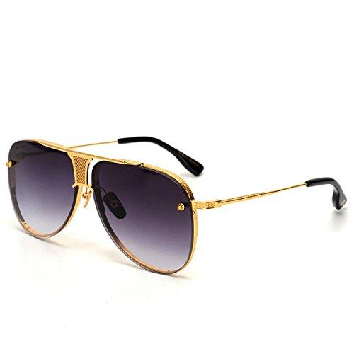 Wkaijc Yurt Männlich Und Weiblich Retro Große Kiste Mode Individualität Freizeit Sonnenbrillen Sonnenbrillen,C