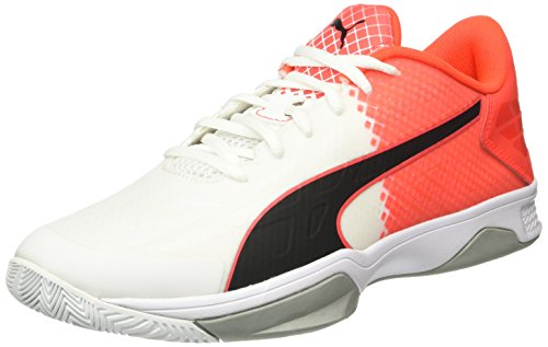 Puma Evospeed Indoor 3.5, Chaussures de Fitness Mixte Adulte Blanc - Weiß (White-Black-Red blast 02)